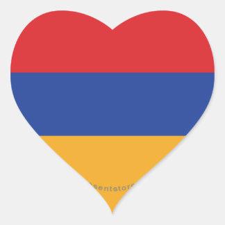 アルメニアの明白な旗 ハートシール