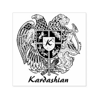 アルメニアの紋章付き外衣は個人化なります セルフインキングスタンプ