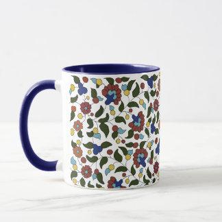 アルメニアの細字印刷の花柄パターン マグカップ