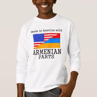 アルメニアの部品が付いているアメリカで作られる Tシャツ