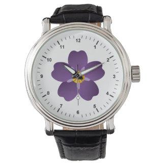 アルメニアの集団虐殺の黒の革バンドの腕時計 腕時計
