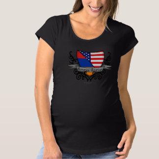 アルメニアアメリカの盾の旗 マタニティTシャツ