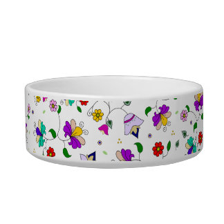 アルメニアインスパイア花パターン-白 ボウル