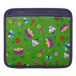アルメニアインスパイア花パターン-緑 iPadスリーブ