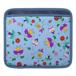 アルメニアインスパイア花パターン-青 iPadスリーブ