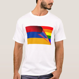 アルメニアゲイプライドの虹の旗 Tシャツ