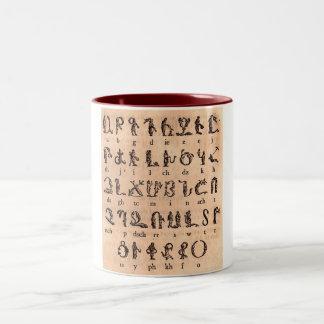 アルメニア文字 ツートーンマグカップ