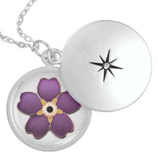 アルメニア語は私をない花の純銀製忘れます ロケットネックレス