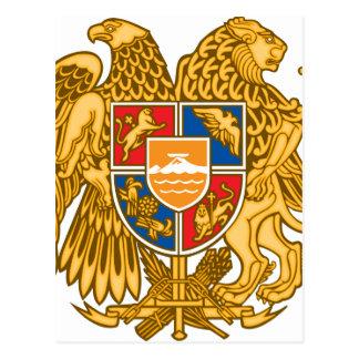 アルメニア-アルメニアの紋章の紋章付き外衣 ポストカード