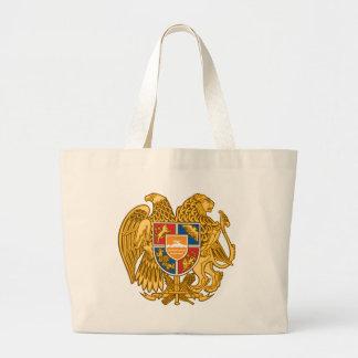 アルメニア-アルメニアの紋章の紋章付き外衣 ラージトートバッグ