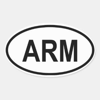 """アルメニア""""腕"""" 楕円形シール"""