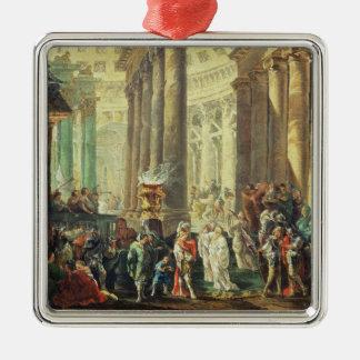 アレキサンダーが付いているローマの寺院のT28517 Capriccio シルバーカラー正方形オーナメント