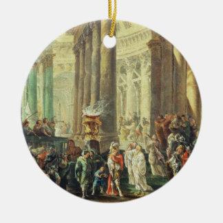 アレキサンダーが付いているローマの寺院のT28517 Capriccio 陶器製丸型オーナメント