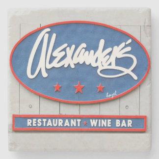アレキサンダーのシーフードのレストラン、バー、ヒルトンヘッド、SC ストーンコースター