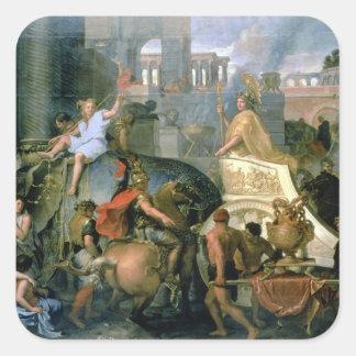 アレキサンダーの勝利、かAlexaの入口 スクエアシール