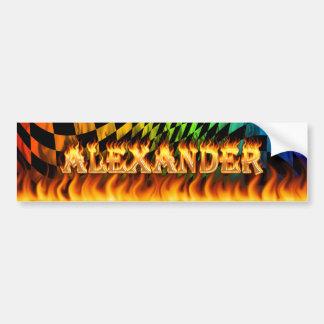 アレキサンダーの実質火および炎のバンパーステッカーのdesi バンパーステッカー