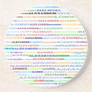 アレキサンダーの文字デザインなIIコースター コースター