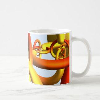 アレキサンダーの角状球のマグ-暖かい色 コーヒーマグカップ