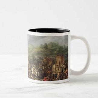 アレキサンダー大王によるPorusの敗北 ツートーンマグカップ