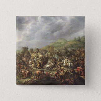 アレキサンダー大王によるPorusの敗北 5.1cm 正方形バッジ