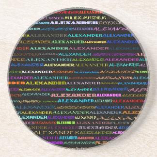 アレキサンダー文字デザインなIのコースター コースター