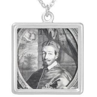 アレキサンダー法皇VII シルバープレートネックレス
