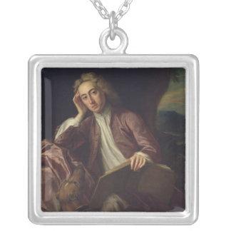 アレキサンダー・ポープおよび彼の犬の跳ね上がり、c.1718 シルバープレートネックレス