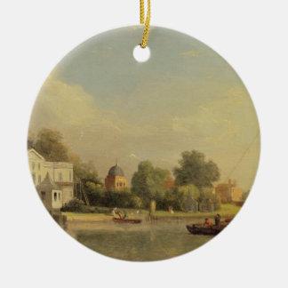 アレキサンダー・ポープの(1688-1744年の)別荘、Twickenham、c. セラミックオーナメント