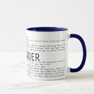 アレキサンダー マグカップ