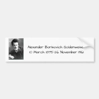 アレキサンダーBorisovich Goldenweiser バンパーステッカー