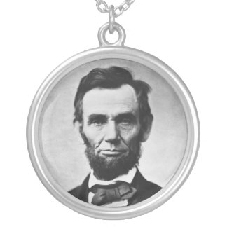 アレキサンダーGardner著エイブラハム・リンカーンのポートレート シルバープレートネックレス