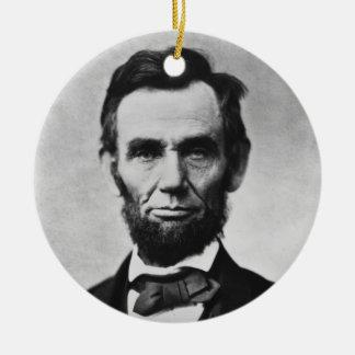 アレキサンダーGardner著エイブラハム・リンカーンのポートレート セラミックオーナメント