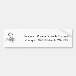 アレキサンダーKonstamtinovich Glazunov 1918年 バンパーステッカー