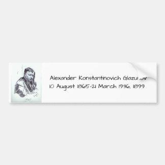 アレキサンダーKonstantinovich Glazunov 1899年 バンパーステッカー