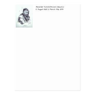 アレキサンダーKonstantinovich Glazunov 1899年 ポストカード