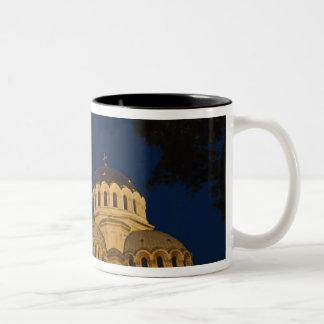 アレキサンダーNevskiのカテドラルの夜眺め ツートーンマグカップ