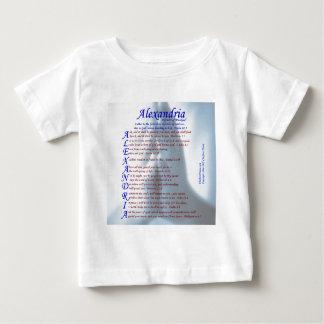 アレキサンドリアの折句 ベビーTシャツ