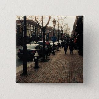 アレキサンドリアの通りの写真Pin 5.1cm 正方形バッジ