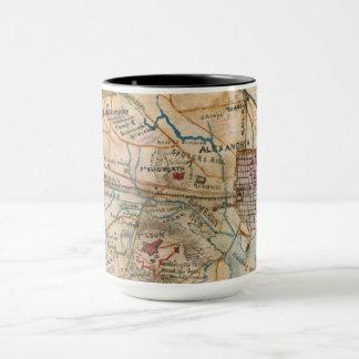 アレキサンドリアのVAの旧式な地図のマグ マグカップ