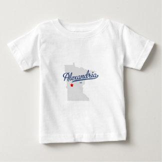 アレキサンドリアミネソタMNのワイシャツ ベビーTシャツ