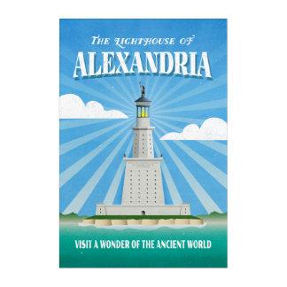 アレキサンドリア旅行絵の灯台 アクリルウォールアート