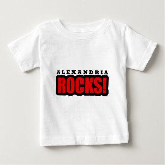アレキサンドリア、アラバマ都市デザイン ベビーTシャツ