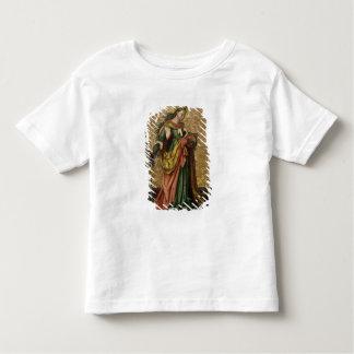 アレキサンドリア(パネルの油)のSt.キャサリン2 トドラーTシャツ