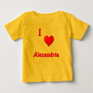 アレキサンドリア -- 赤い ベビーTシャツ