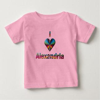 アレキサンドリア -- 青緑及びバーガンディ ベビーTシャツ