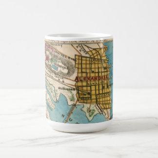 アレキサンドリアVAおよび隣都市の地図 コーヒーマグカップ