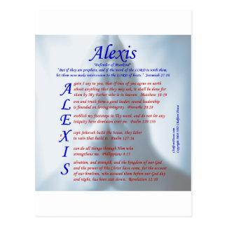 アレキシスの折句 ポストカード