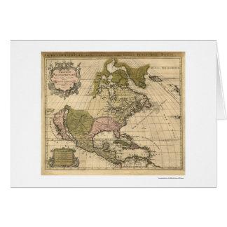 アレキシスヒューバートJaillot 1694年著北アメリカの地図 カード