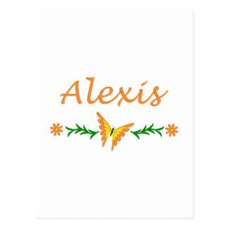 アレキシス(オレンジ蝶) ポストカード