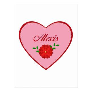 アレキシス(ハート) ポストカード